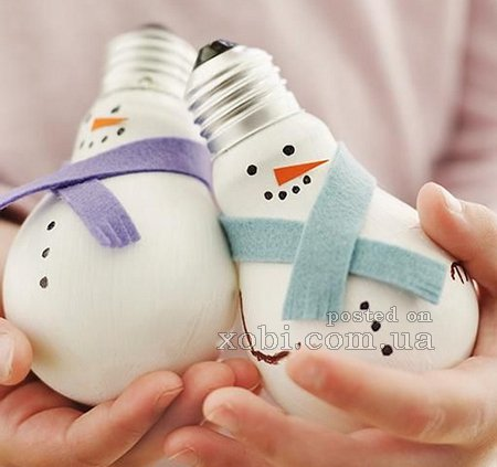 how to make snowman with thermocol